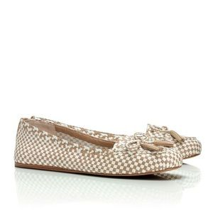 Tory Burch Russell Woven Loafer Flats